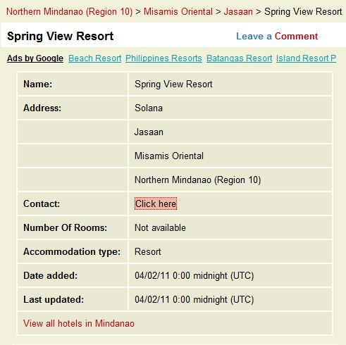 Monte Richi Beach Resort Room Rates